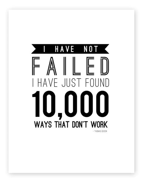 Printable Thomas Edison Quotes | failure and a free printable room art