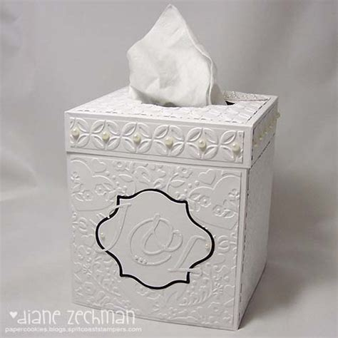 Wedding Tissue Box by Another Tissue Box Cover And Tutorial