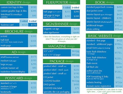 graphic design layout rates pricing guide graphic design services imagine studios