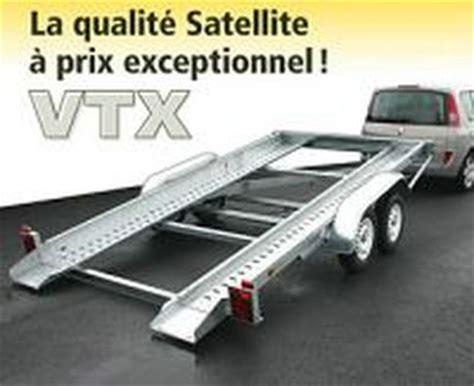 remorque porte voiture vtx223al essieux satellite