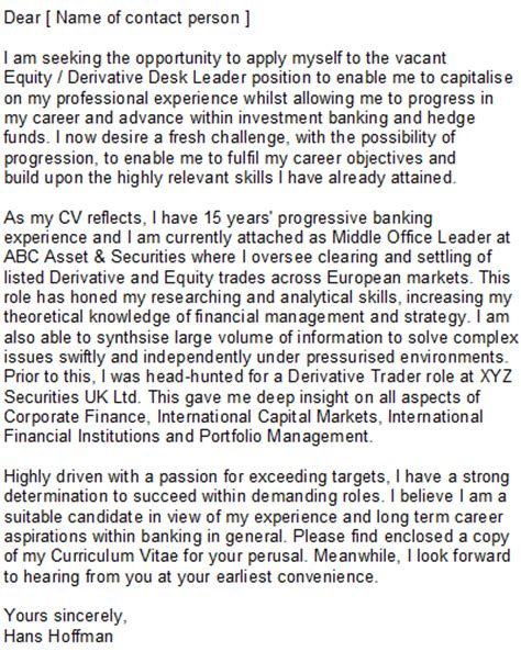 cover letter investment banking project scope template investment