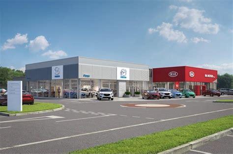 perris kia dealership car dealer perrys begins work on multi million pound