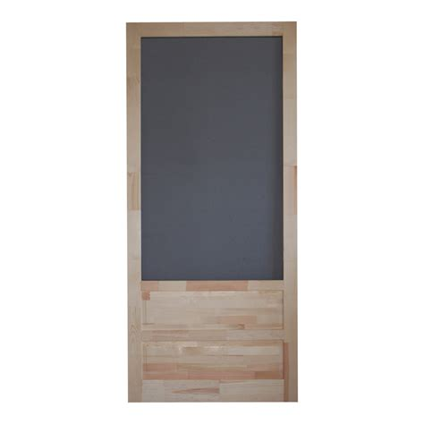 Screen Doors Lowes by Shop Screen Tight Wood Screen Door Common 36 In X 80 In