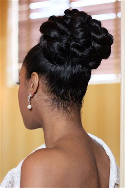 relaxed hair buns 5 sounding wedding braided bun hairstyles for black women