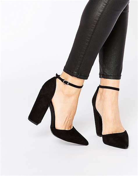new look new look two part block heeled shoes