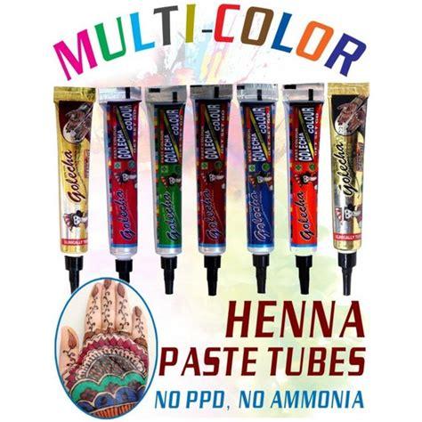 diy henna tattoo ink henna multi color temporary designtattoo