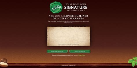 Single Entry Sweepstakes - irish spring what does your signature say about you sweepstakes