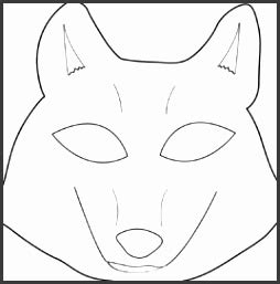 wolf mask template printable sampletemplatess