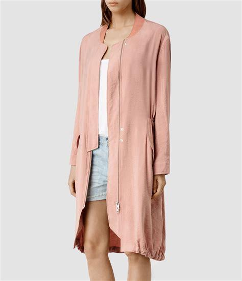 Jaket Parka Abuabu Pink Bb allsaints elio bomber parka coat usa usa in pink lyst