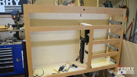 tv cabinet that raises the tv 187 a tv lift cabinet with secret compartment ep63