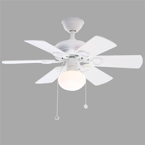 hton bay minuet iii 36 in indoor white ceiling fan
