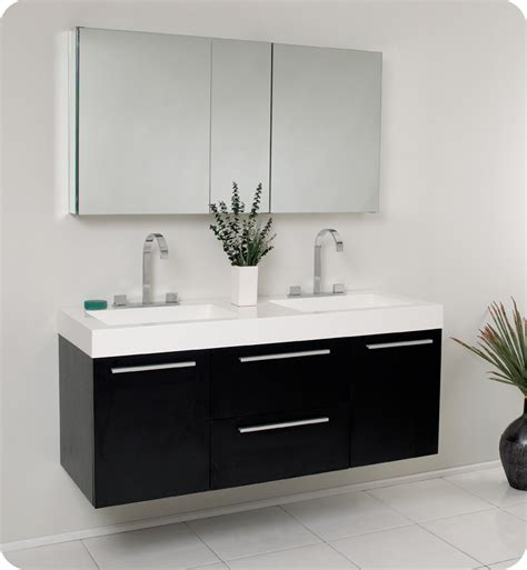 modern bathroom sinks and vanities fresca opulento black modern double sink bathroom vanity w