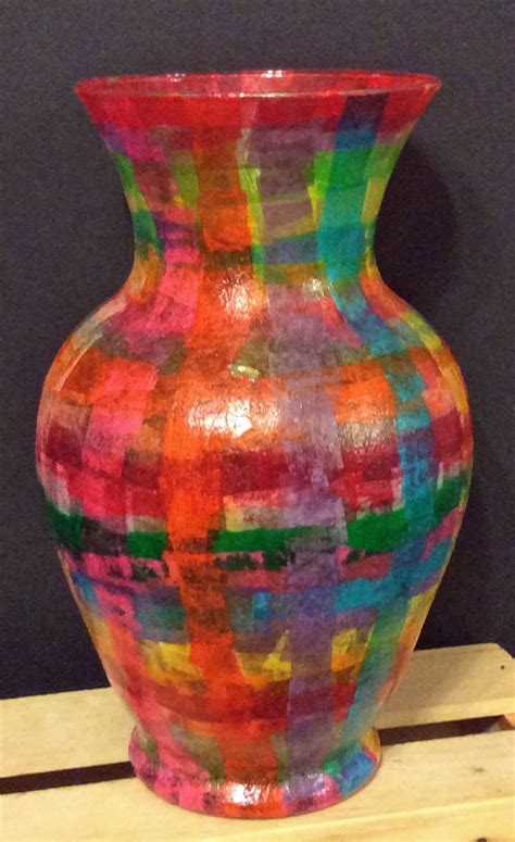 Decoupage Glass Vase - ornaments vases