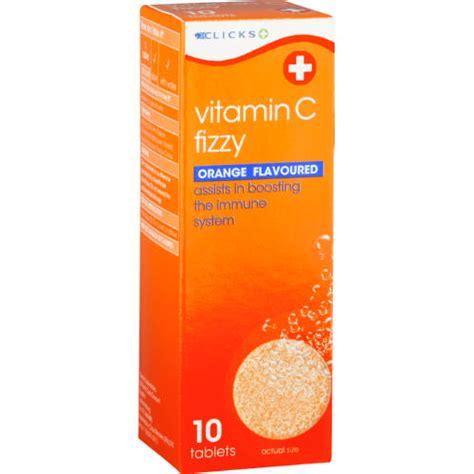 Vitamin Orange 1 clicks vitamin c fizzy orange 10 effervescent tablets clicks