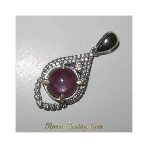 Liontin Batu Rubby liontin batu mulia ruby 6 00 carat silver 925 model
