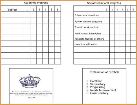 7 homeschool report card template card authorization 2017