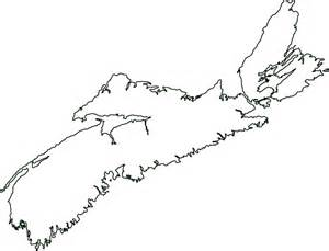blank map of atlantic canada scotia canada outline map