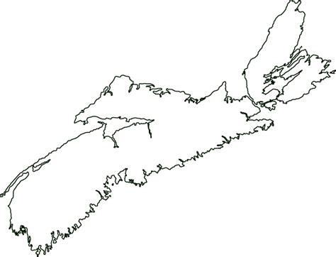 Map Of Scotia Outline scotia canada outline map