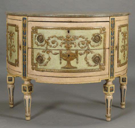 mobili antichi piemonte 242 a mezzaluna luigi xvi in legno intagliato laccato e