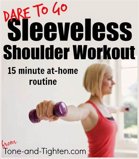 Shoulder Workout At Home by Sleeveless Shoulder Workout 15 Minute At Home Arm