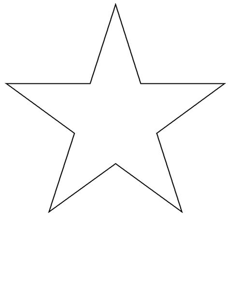 star simple shapes coloring pages coloring book