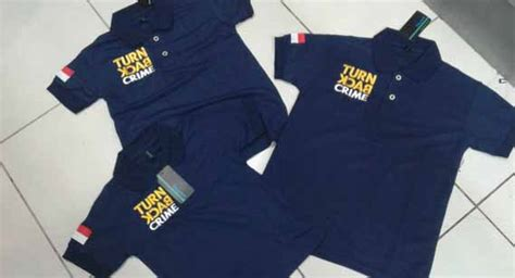 Jaket Fleece Tebal Sablon Turn Back Crime polo shirt international school