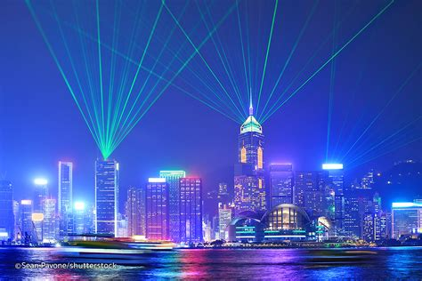 Hong Kong Light Show by Symphony Of Lights In Hong Kong Kowloon Attractions