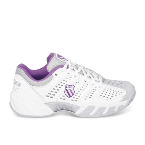 k swiss bigshot light womens tennis shoe in white and dewberry