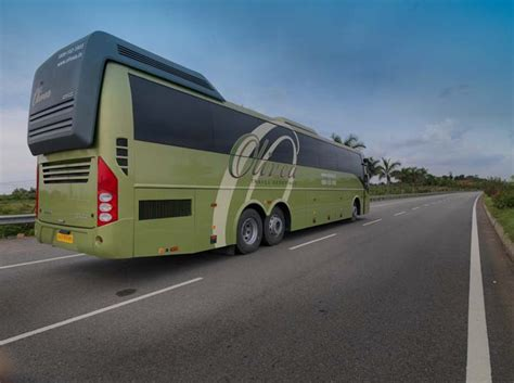indian luxury buses olivea volvo bus review fare  timings