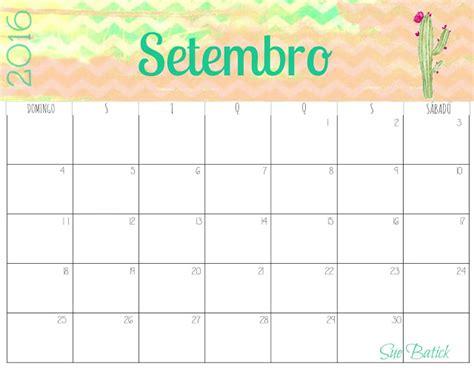 Calendario 7 De Setembro Calend 225 Rios Fofos De Setembro 2016 Para Imprimir