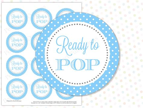 ready to pop sticker blue instant download ready to pop