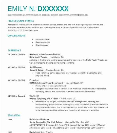 costume design resume resume ideas