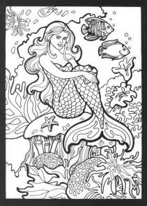 mermaid colouring pages for adults free coloring pages of h2o mermaid