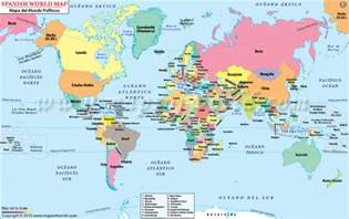 Spanish Home Decor Store Buy World Map With Countries In Spanish