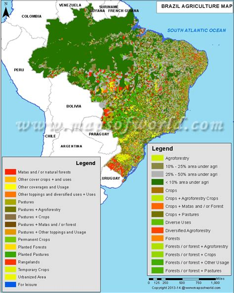 agriculture map of usa brazil agriculture map