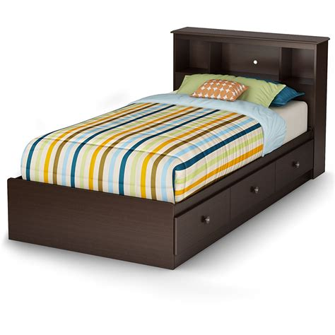 twin bed with storage and headboard bedroom thompson twin bed 6 drawer storage with twin