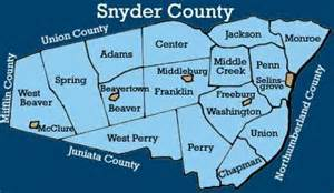 snyder county pennsylvania township maps