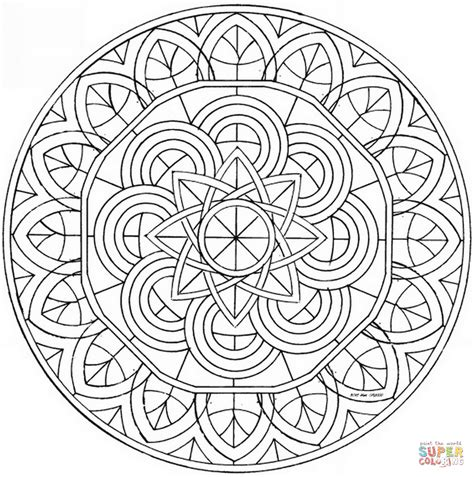 free coloring pages mandalas celtic celtic mandala with flower coloring page free printable