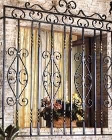 Decorative wrought iron window grill design iron window guard