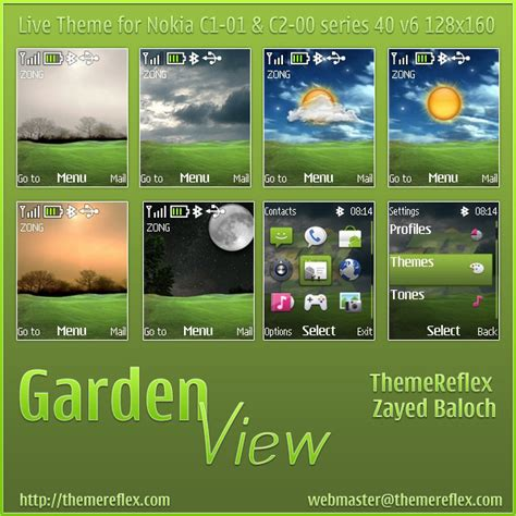 nokia themes for c2 mobile graden view live theme for nokia c1 01 c2 00 themereflex