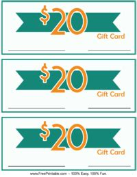 Free 20 Dollar Gift Card - 20 dollar monetary gift card