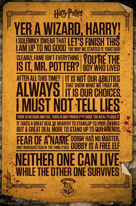 Plakat Harry Potter by Harry Potter Quotes Plak 225 T Obraz Na Zeď Posters Cz