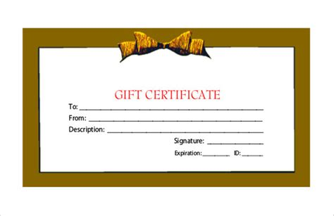 Gift Card Templates Free Pdf by 20 Gift Certificate Templates Free Sle