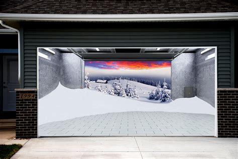 3d Garage Door Covers Tree Snow Garage Door Covers 3d Banners Decorations Outdoor Billboard Murals