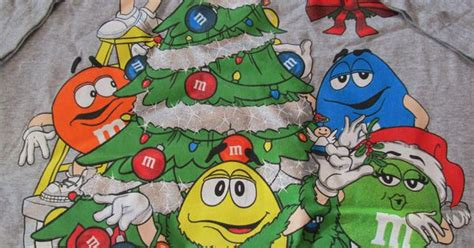 bm christmas m m characters around a tree t shirt m m shirts and clothes
