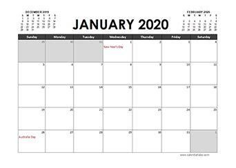 printable  calendar templates  australia holidays