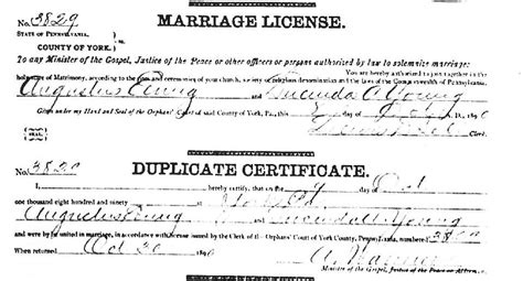 Pa Marriage Records York County Pa Usgenweb Archives Marriage Records