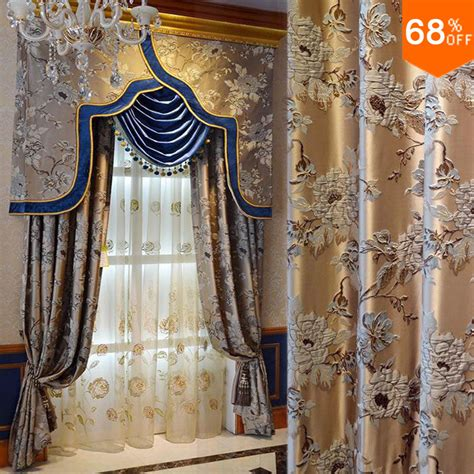 wholesale draperies wholesale 2015 golden real 3d luxury flowers curtain