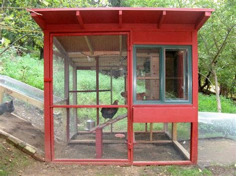 Chicken Coop With Lots Of Light And Air And Style