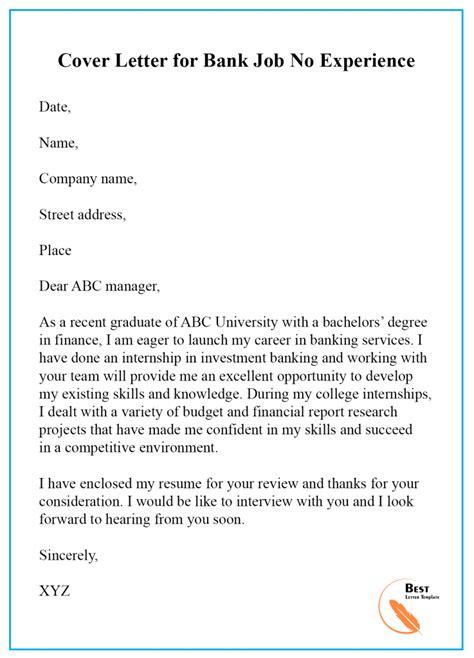 cover letter template bank teller format sample